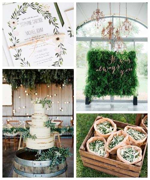 zieleń na weselu