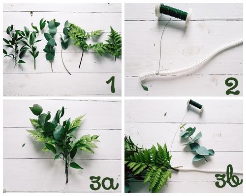 girlanda z zieleni
